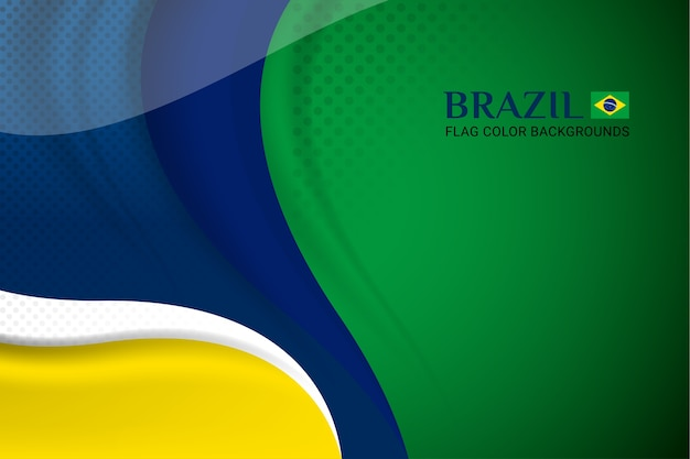 Vlag van brazilië achtergrond concept voor onafhankelijkheid