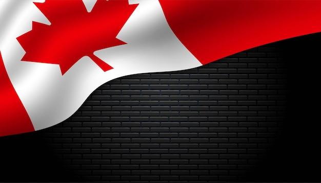 Vlag van canada achtergrond.