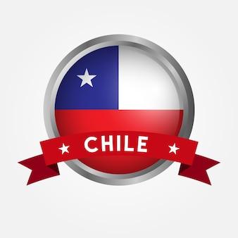 Vlag van chili op een knop