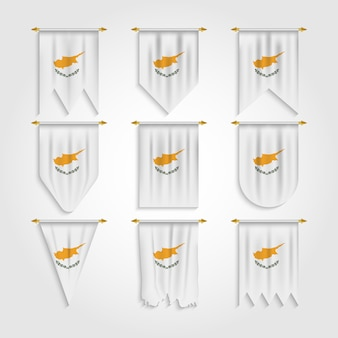 Vlag van cyprus in verschillende vormen