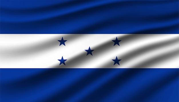 Vlag van de achtergrond van honduras.