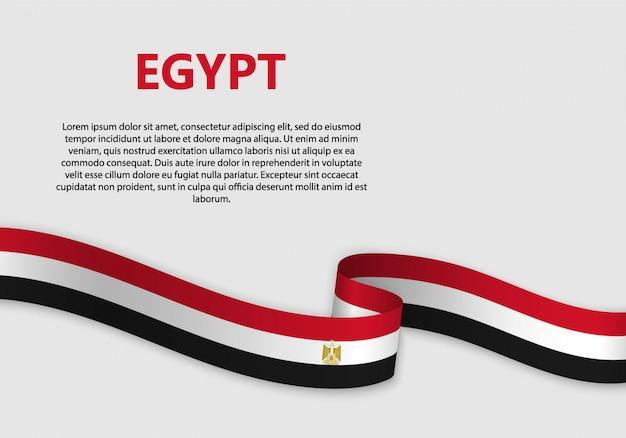 Vlag van de banner van egypte zwaaien