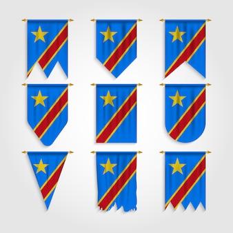 Vlag van de democratische republiek congo in verschillende vormen, vlag van de dr congo in verschillende vormen