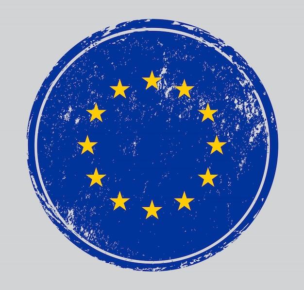 Vlag van de europese unie grunge