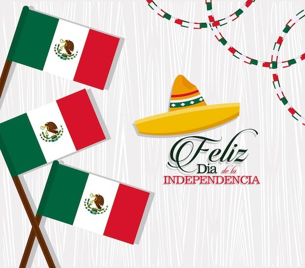 Vlag van de onafhankelijkheidsdag van mexico