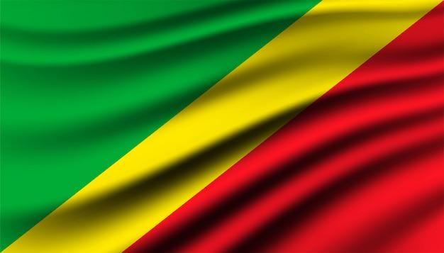 Vlag van de republiek congo achtergrond sjabloon.