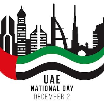 Vlag van de vae nationale feestdag