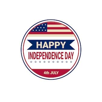 Vlag van de verenigde staten onafhankelijkheidsdag