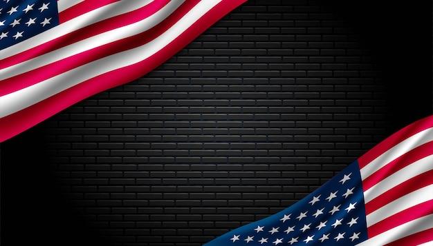 Vlag van de vs achtergrond.