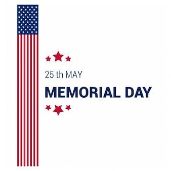 Vlag van de vs memorial day