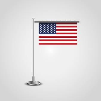 Vlag van de vs met standaard