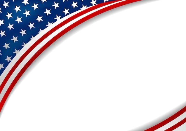 Vlag van de vs of amerika op witte achtergrond