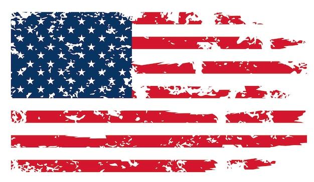 Vlag van de vs - originele kleuren en verhoudingen. verenigde staten vectorillustratie eps-10.