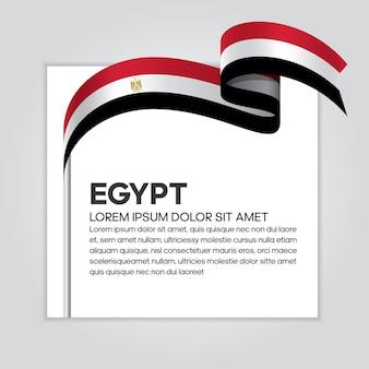 Vlag van egypte lint, vectorillustratie op een witte achtergrond