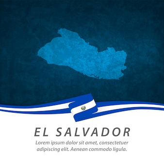 Vlag van el salvador met centrale kaart