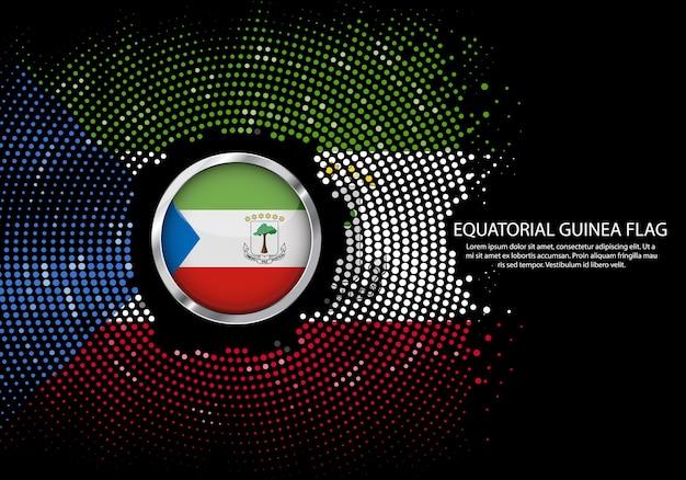 Vlag van equatoriaal-guinea achtergrond