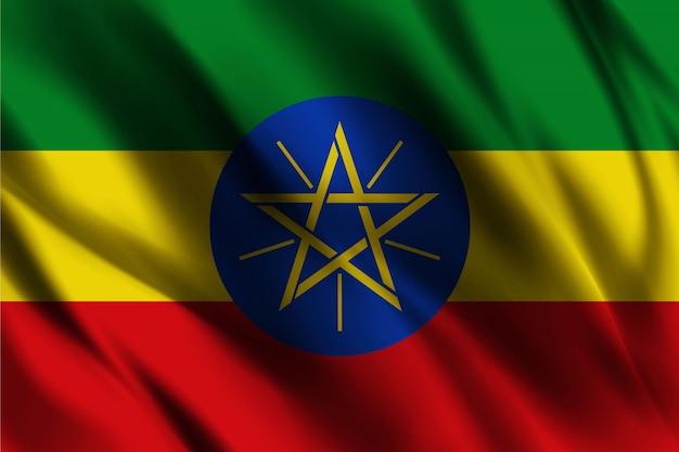 Vlag van ethiopië zwaaien abstracte achtergrond