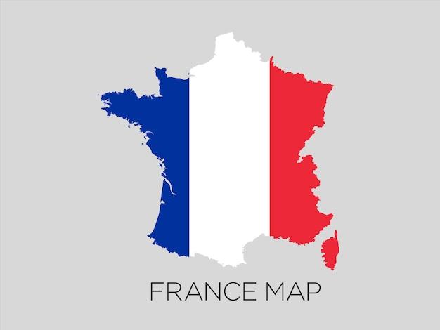 Vlag van frankrijk in kaart conceptontwerp vectorillustratie.