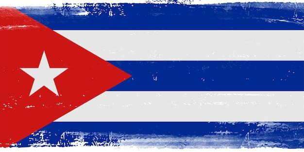 Vlag van grunge cuba