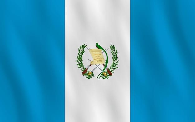 Vlag van guatemala met zwaaieffect, officiële verhouding.