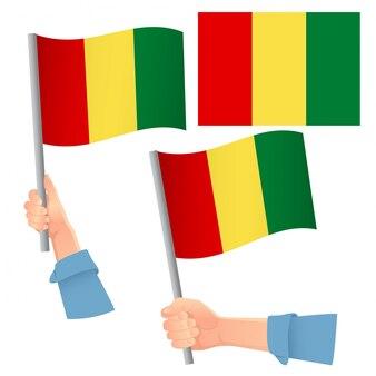 Vlag van guinee in de hand set