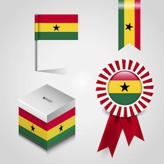 Vlag van het land van ghana