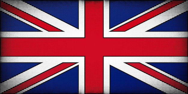 Vlag van het verenigd koninkrijk van groot-brittannië en noord-ierland