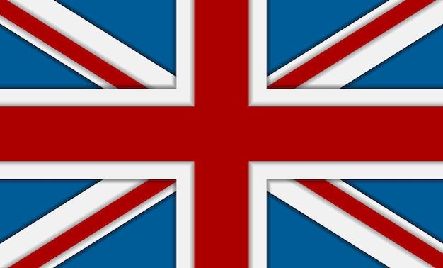 Vlag van het verenigd koninkrijk van groot-brittannië. vector zakelijke achtergrond