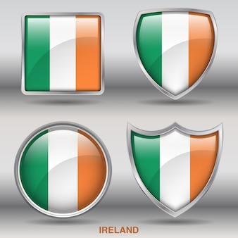 Vlag van ierland afschuining vormen pictogram