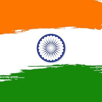Vlag van india met grungeborstel