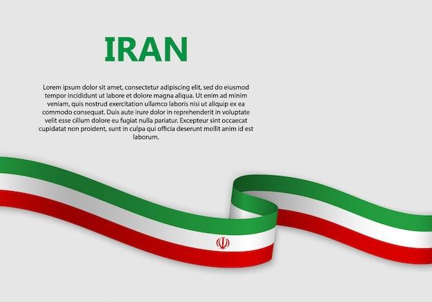 Vlag van iran vlag zwaaien