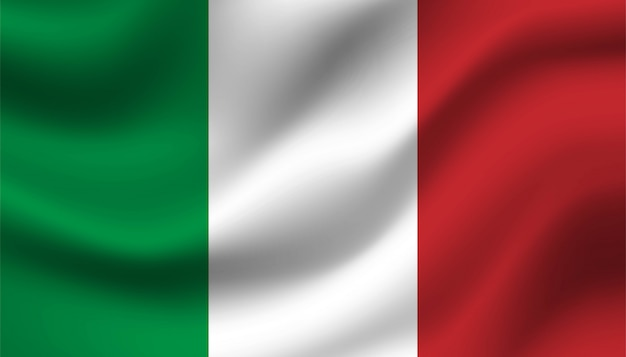 Vlag van italië achtergrond sjabloon.
