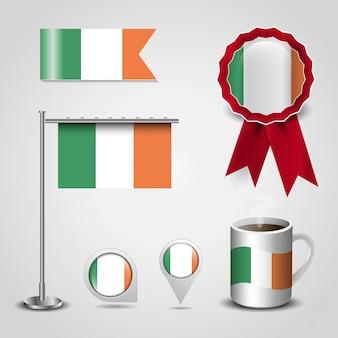 Vlag van italië met creatief ontwerp vector