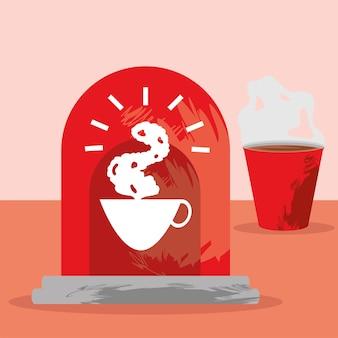 Vlag van koffietijd