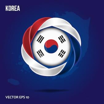 Vlag van korea pin 3d-ontwerp