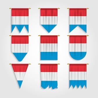 Vlag van luxemburg in verschillende vormen