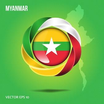 Vlag van myanmar pin