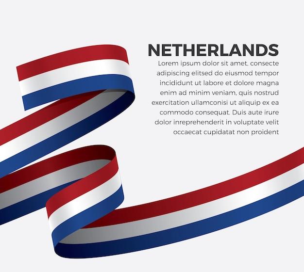 Vlag van nederland lint, vectorillustratie op een witte achtergrond