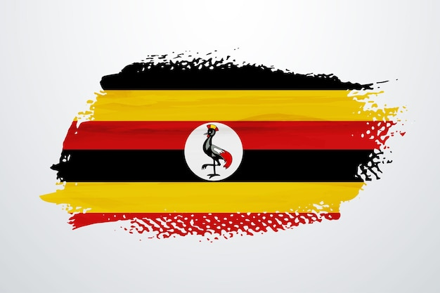 Vlag van oeganda penseelverf