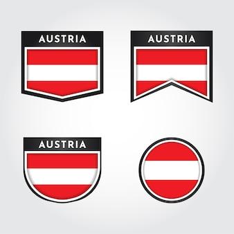Vlag van oostenrijk label