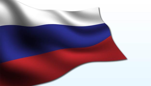 Vlag van rusland achtergrond Premium Vector