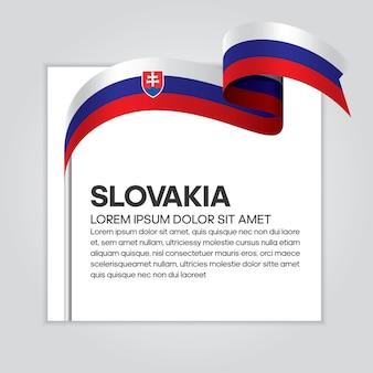 Vlag van slowakije lint, vectorillustratie op een witte achtergrond