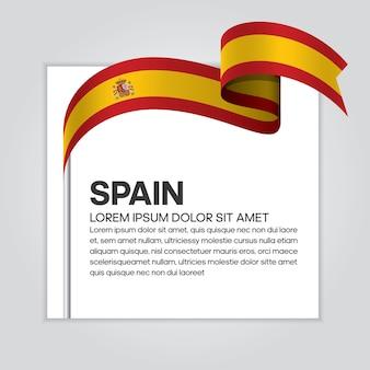 Vlag van spanje lint, vectorillustratie op een witte achtergrond