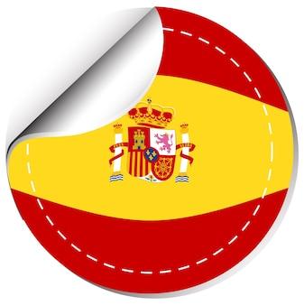 Vlag van spanje op ronde badge