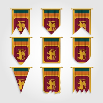 Vlag van sri lanka in verschillende vormen, vlag van sri lanka in verschillende vormen