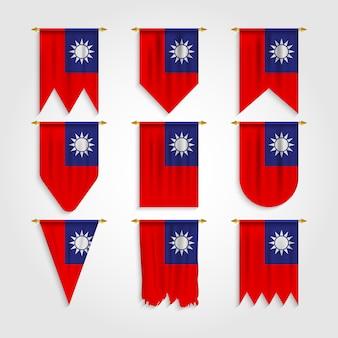 Vlag van taiwan in verschillende vormen, vlag van taiwan in verschillende vormen