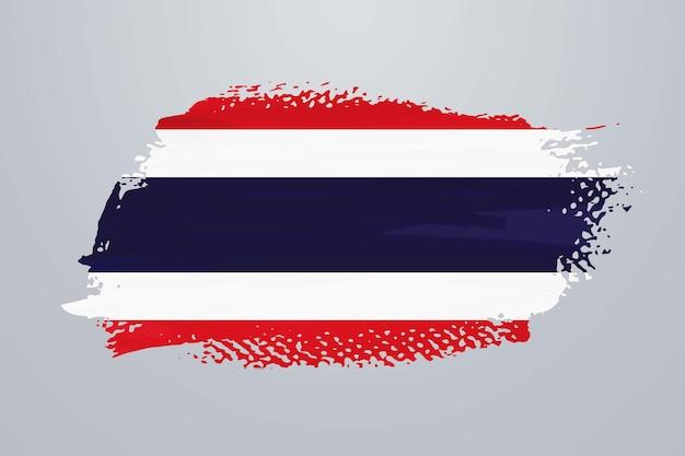 Vlag van thailand penseelverf