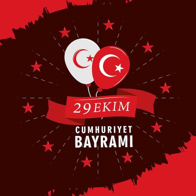 Vlag van turkije dag viering