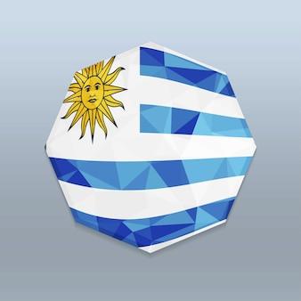 Vlag van uruguay met octagone-ontwerpvector