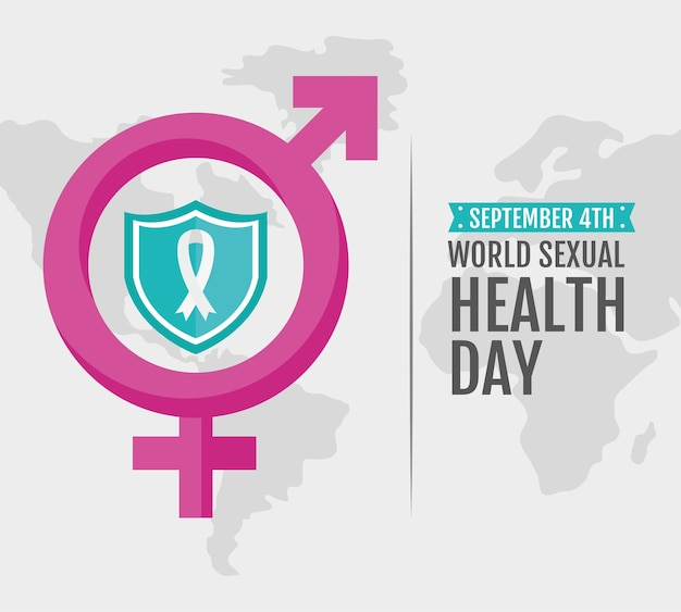 Vlag van wereld seksuele gezondheidsdag